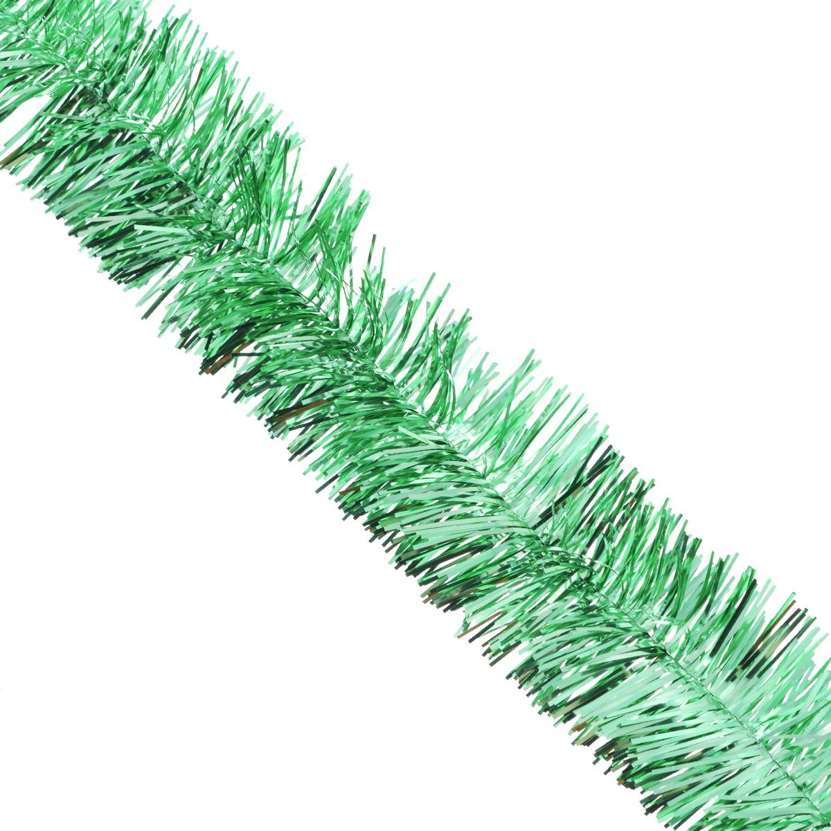 Мишура новогодняя Sima-land, цвет: серебристый, зеленый, диаметр 5 см, длина 128 см. 701305701305_серебристый, зеленыйНовогодняя мишура Sima-land, выполненная из фольги, поможет вам украсить свой дом к предстоящим праздникам. А новогодняя елка с таким украшением станет еще наряднее. Мишура армирована, то есть имеет проволоку внутри и способна сохранять любую форму, которую вы ей придадите. Новогодней мишурой можно украсить все, что угодно - елку, квартиру, дачу, офис - как внутри, так и снаружи. Можно сложить новогодние поздравления, буквы и цифры, мишурой можно украсить и дополнить гирлянды, можно выделить дверные колонны, оплести дверные проемы.