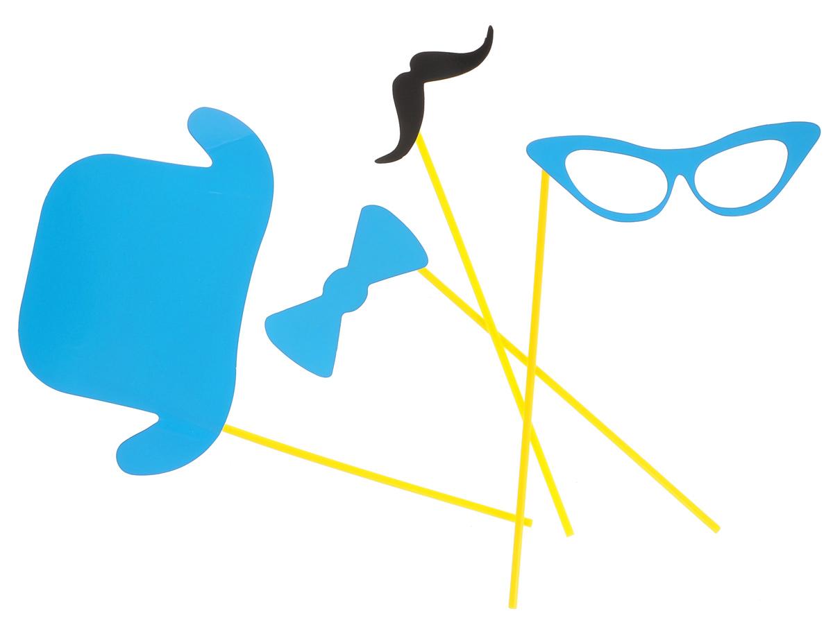 """Набор для вечеринок """"Феникс-Презент"""", цвет: голубой, 4 предмета. 39209"""