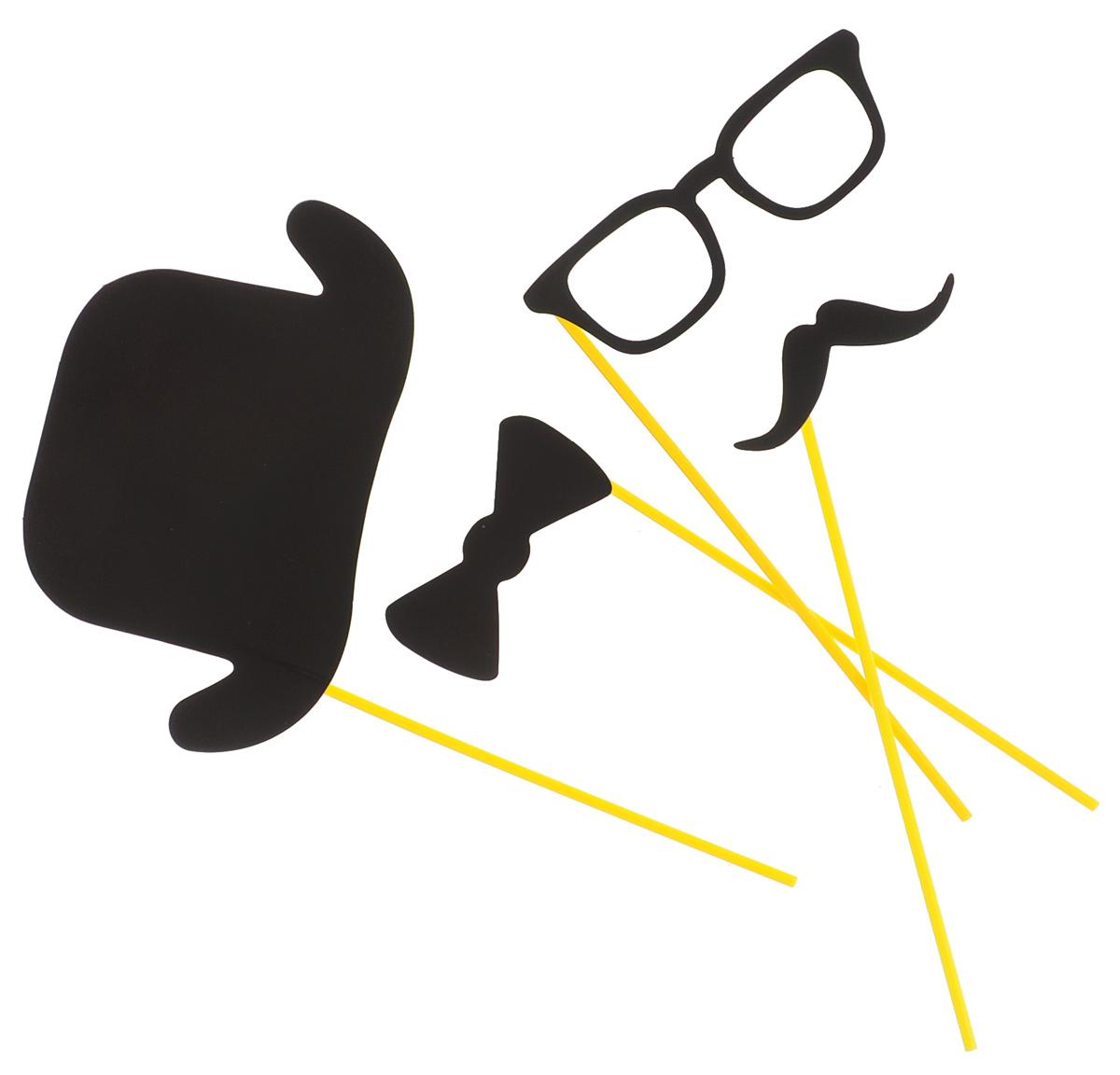 """Набор для вечеринок """"Феникс-Презент"""", цвет: черный, 4 предмета. 39218"""