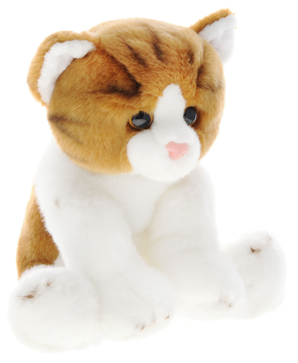 Maxi Toys Мягкая игрушка Котик цвет белый светло-коричневый 25 см малышарики мягкая игрушка собака бассет хаунд 23 см