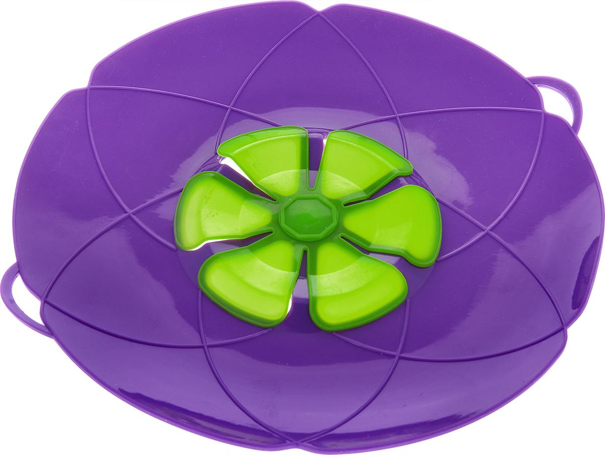 Крышка-невыкипайка Mayer & Boch, цвет: фиолетовый. Диаметр 28 см24257_зеленый, фиолетовый,зеленыйКрышка-невыкипайка Mayer & Boch изготовлена из силикона высокого качества. Не теряет форму от высоких температур. Крышка-невыкипайка предотвращает выкипание и разбрызгивание во время приготовления. Ваша кухня всегда будет в чистоте. Вы даже можете оставлять без присмотра готовящуюся пищу. При хранении в прохладных местах крышка обеспечит свежесть продуктов.Также изделие используется в качестве пароварки - можно готовить овощи и морепродукты на пару.Подходит для использования на посуде диаметром 15-30 см. Можно мыть в посудомоечной машине.