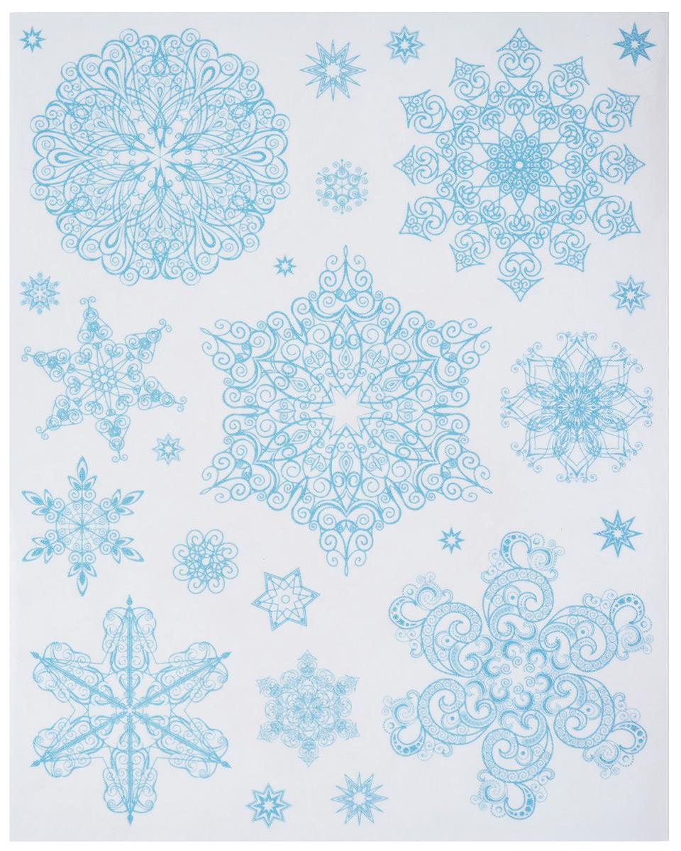 Новогоднее оконное украшение Феникс-Презент Снежинки феникс презент наклейки на окно елочные игрушки 30 38 см