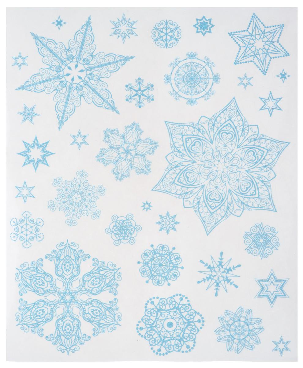 Новогоднее оконное украшение Феникс-Презент Снежинки. 31245 костюм маленькой снежинки 32