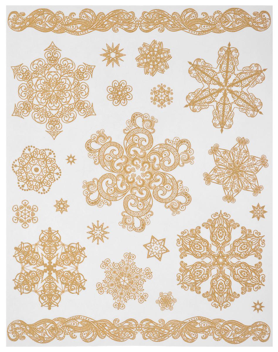 Новогоднее оконное украшение Феникс-Презент Снежинки. 31249 новогоднее оконное украшение феникс презент обезьянки