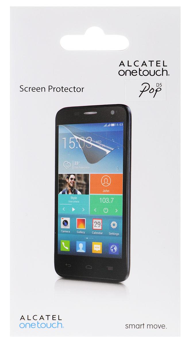Alcatel Screen Protector защитная пленка для OneTouch Pop D5, прозрачнаяF-GBNH27K0051C7-A1Защитная пленка Alcatel Screen Protector сохраняет экран смартфона гладким и предотвращает появление на нем царапин и потертостей. Пленка практически незаметна на экране устройства и сохраняет все характеристики цветопередачи и чувствительности сенсора.