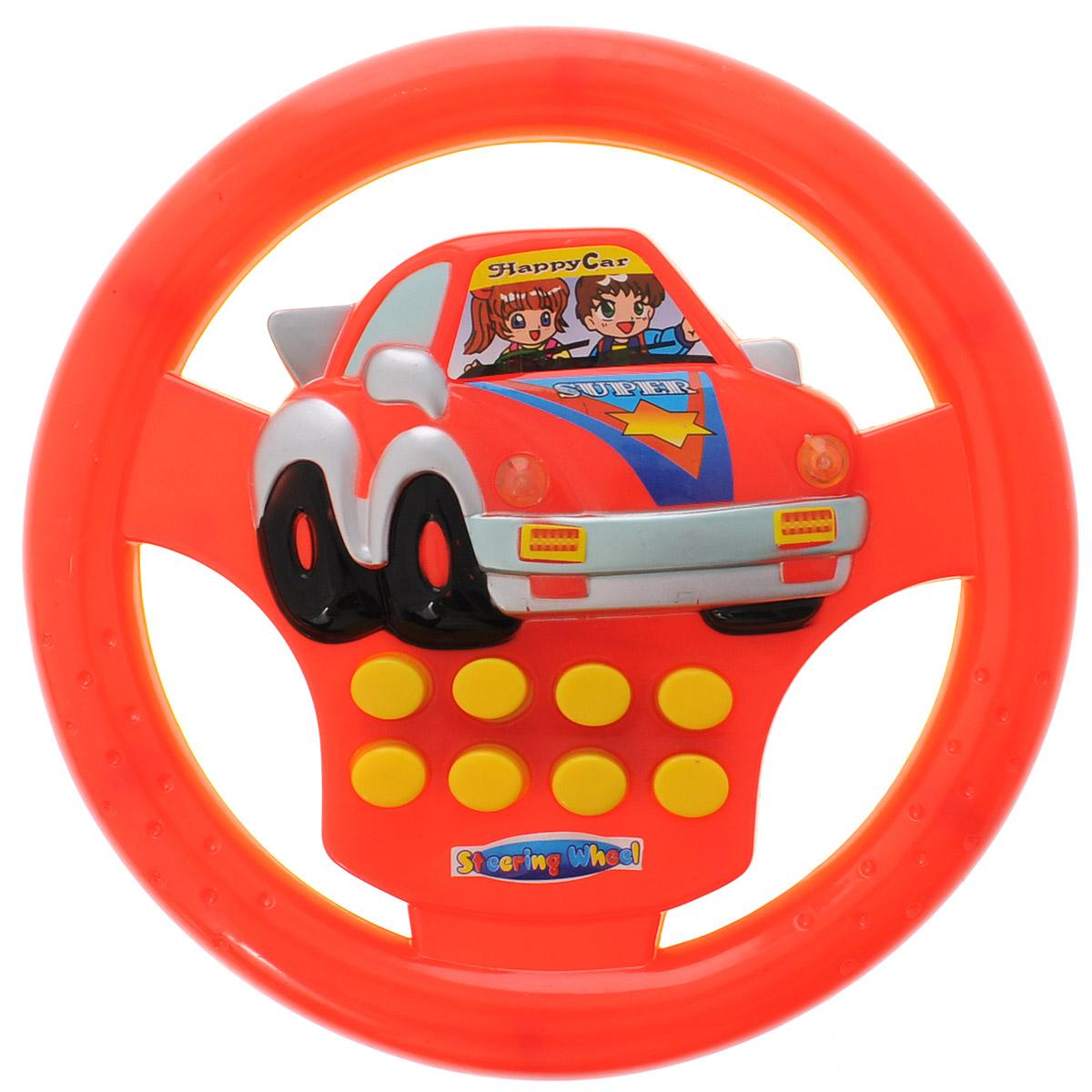 Junfa Toys Развивающая игрушка Руль цвет красный желтый