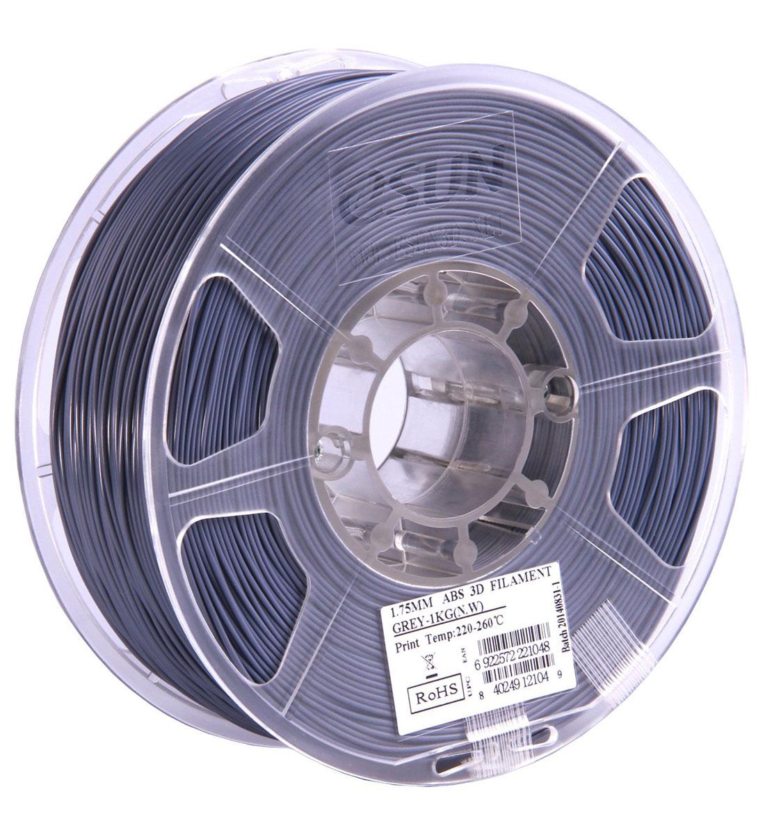 ESUN ABS-пластик в катушке, Grey (ABS175H1) abs 1 75 3d 395m