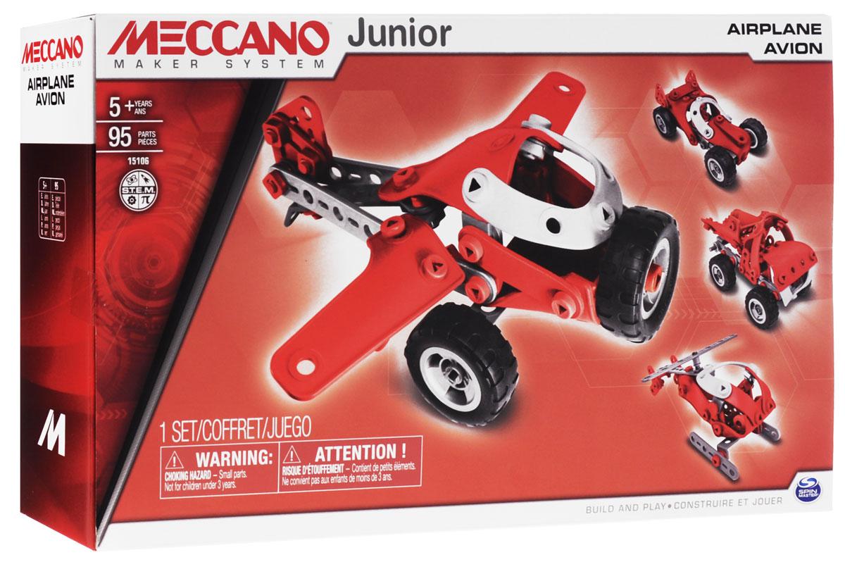 Meccano Конструктор Легкомоторный самолет 4 в 1 конструкторы meccano игрушка meccano гоночная машина р у 2 модели