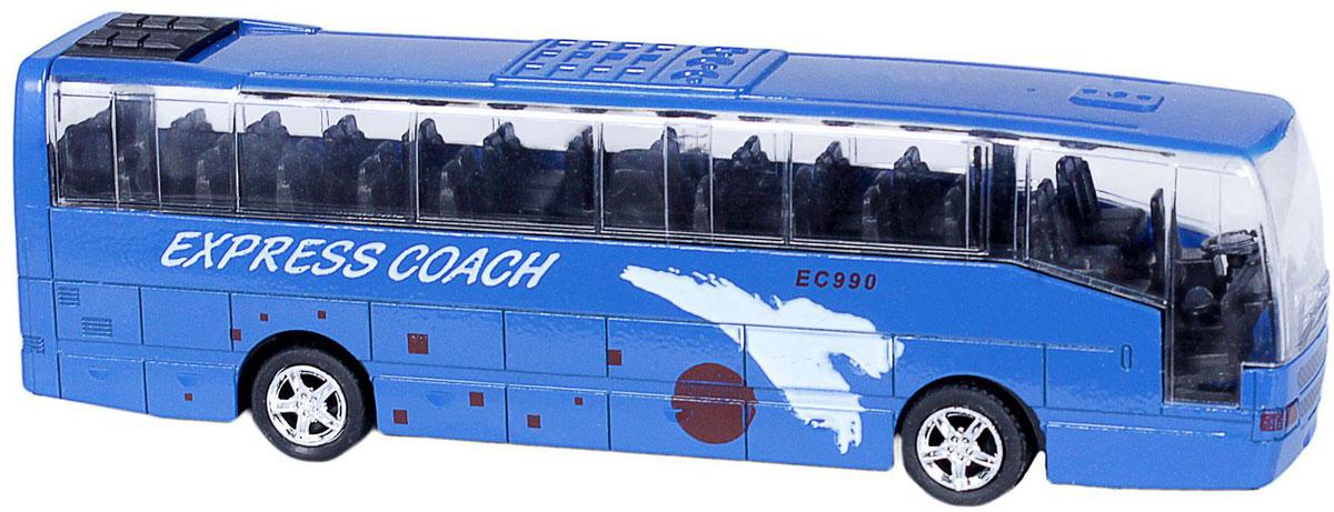 Big Motors Автобус инерционный Cheerful Bus цвет синий big песочница ракушка big sand из 2 частей цвет синий