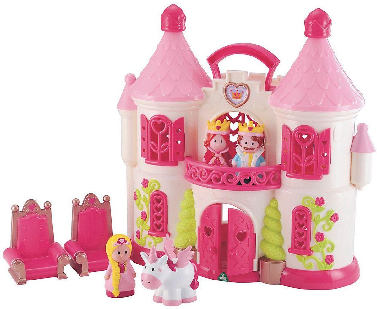 ELC Дом для кукол Сказочный замок с персонажами и единорогом каталки elc машинка ходунок 2 в 1