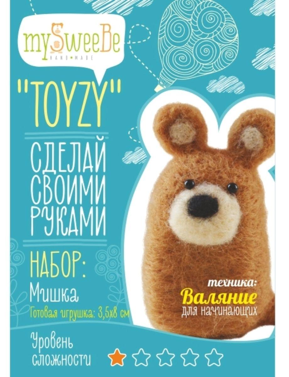 Toyzy Набор по валянию Мишка Начальный уровень