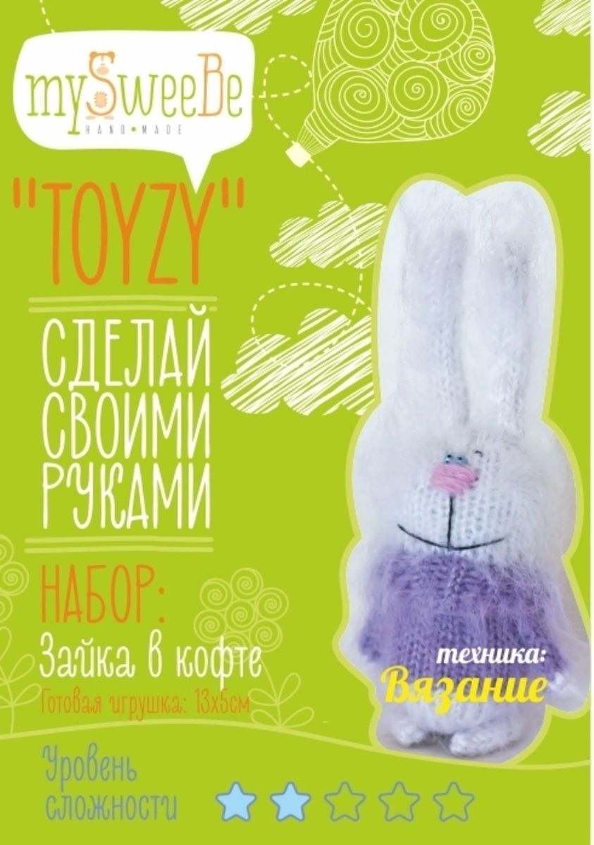 Toyzy Набор по вязанию Зайка в кофте