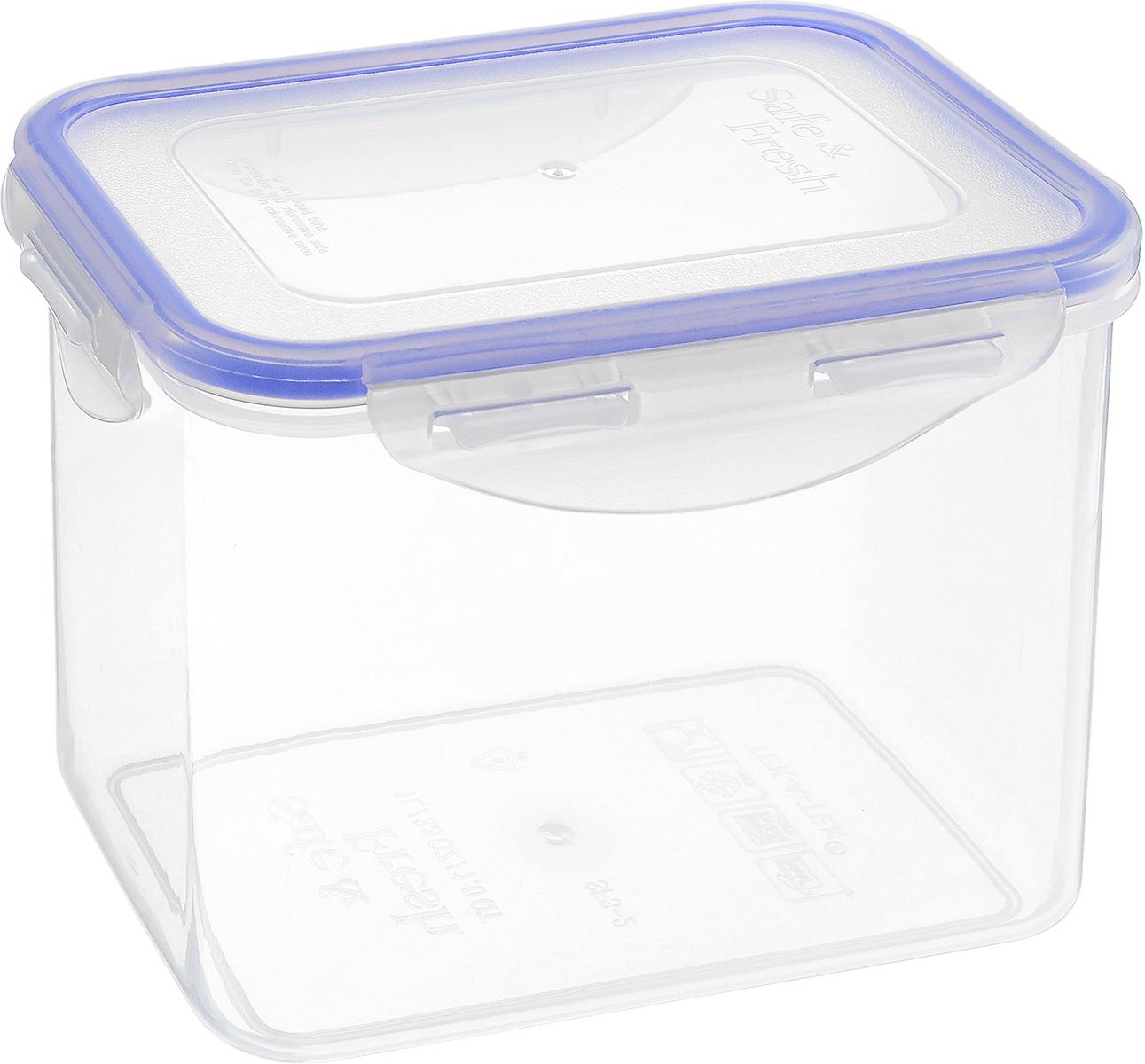 Контейнер пищевой Tek-a-Tek, 1 лSF3-2Пищевой контейнер Tek-a-Tek выполнен из высококачественного пластика. Изделие оснащено четырехсторонними петлями-замками и силиконовой прокладкой на внутренней стороне крышки. Это позволяет воде и воздуху не попадать внутрь, сохраняется герметичность.Изделие абсолютно нетоксично при любом температурном режиме.Можно использовать в посудомоечной машине, а так же в микроволновой печи (без крышки), замораживать до -20°С и размораживать различные продукты без потери вкусовых качеств.