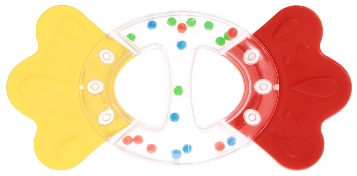 Stellar Погремушка-прорезыватель Бантик цвет желтый красный фен philips hp8230