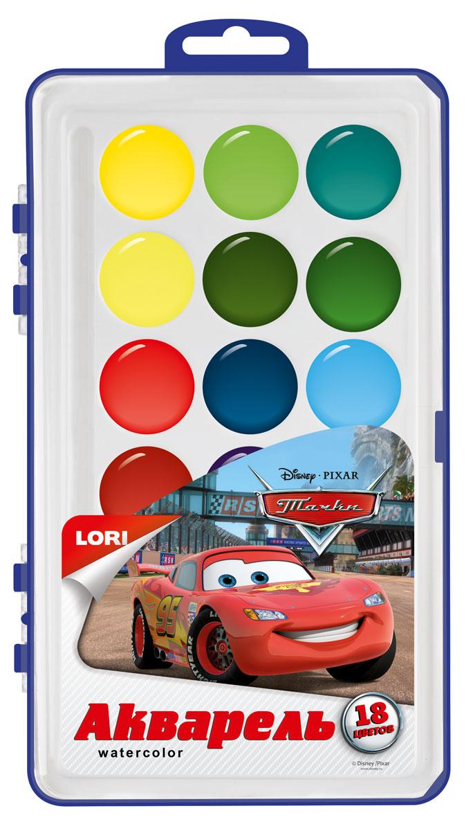 Lori Акварель Disney в пластике Тачки, 18 цветов