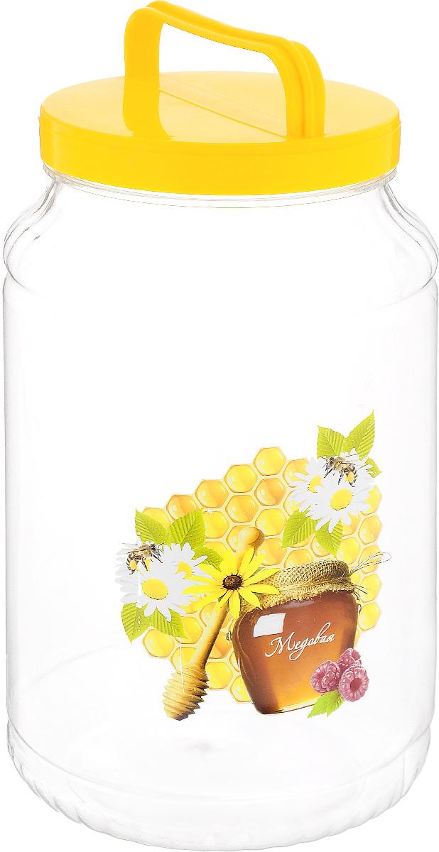 Бидон Альтернатива Медок, цвет: прозрачный, желтый, 3 лM1951_желтыйБидон Альтернатива Медок предназначен для хранения и переноски пищевых продуктов, таких как молоко, вода и прочее. Выполнен из пищевого высококачественного пластика. Оснащен ручкой для удобной переноски.Бидон Альтернатива Медок станет незаменимым аксессуаром на вашей кухне.Высота бидона (без учета крышки): 23 см.Диаметр: 13,5 см.