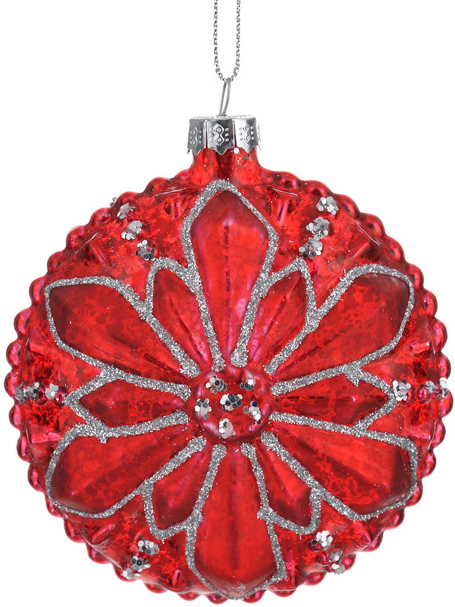 Новогоднее подвесное украшение Феникс-Презент Аленький цветочек, диаметр 8,5 см39245Новогоднее подвесное украшение Феникс-Презент Аленький цветочек отлично подойдет для декора праздничной ели. Изделие выполнено из высококачественного стекла, оформлено красивым рельефом и серебристым глиттером. Игрушка оснащена петелькой для подвешивания.Елочная игрушка - символ Нового года. Она несет в себе волшебство и красоту праздника. Создайте в своем доме атмосферу веселья и радости, украшая новогоднюю елку нарядными игрушками, которые будут из года в год накапливать теплоту воспоминаний.Серия украшений Magic Time принесет в ваш дом ни с чем не сравнимое ощущение праздника.