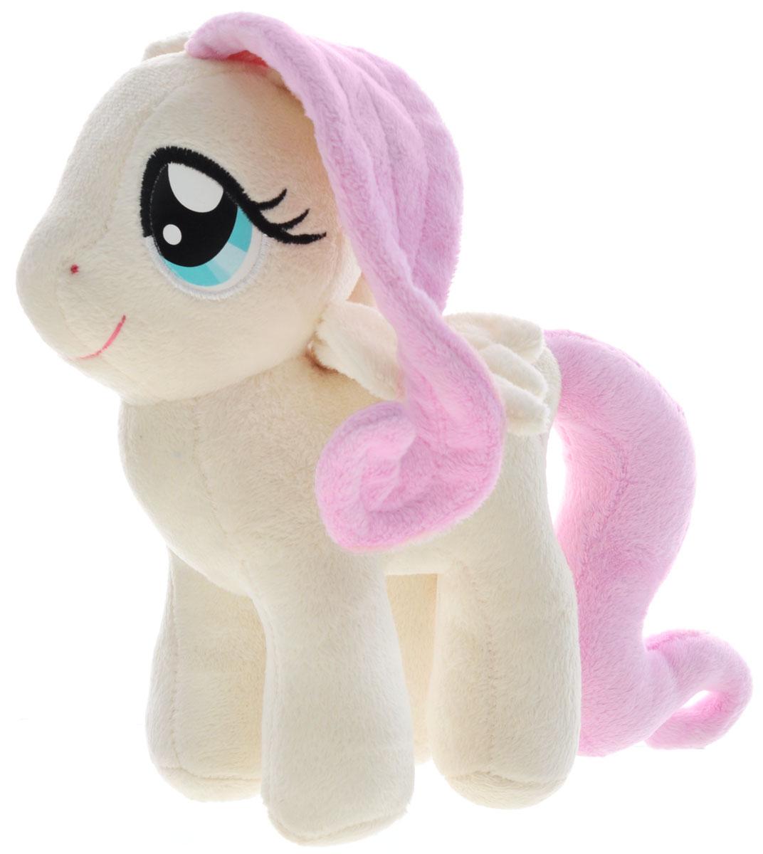My Little Pony Мягкая игрушка Пони Флаттершай цвет кремовый 22 см playskool мягкая озвученная игрушка my little pony пони рейнбоу дэш 25 см
