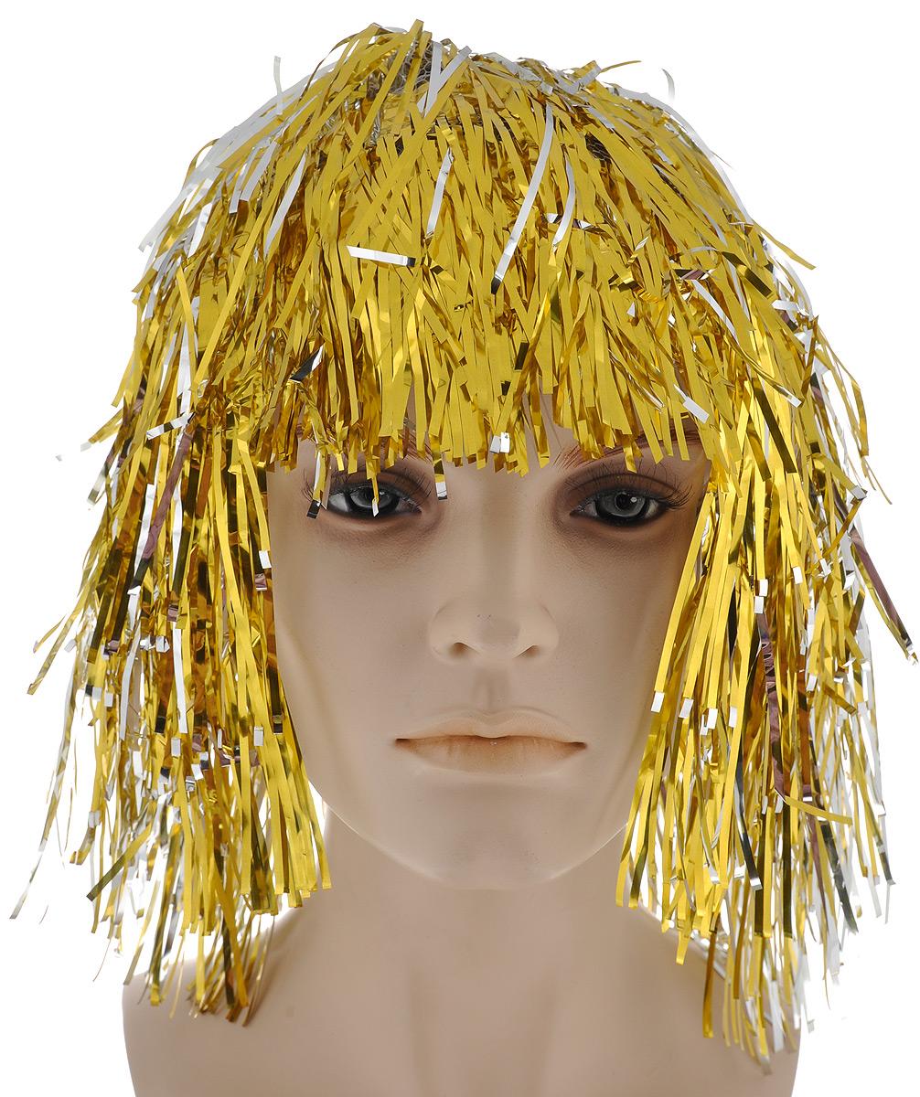 Парик маскарадный Феникс-презент Magic Time, цвет: серебристый, золотистый феникс презент маскарадный костюм для девочки лесная фея 6 8 лет