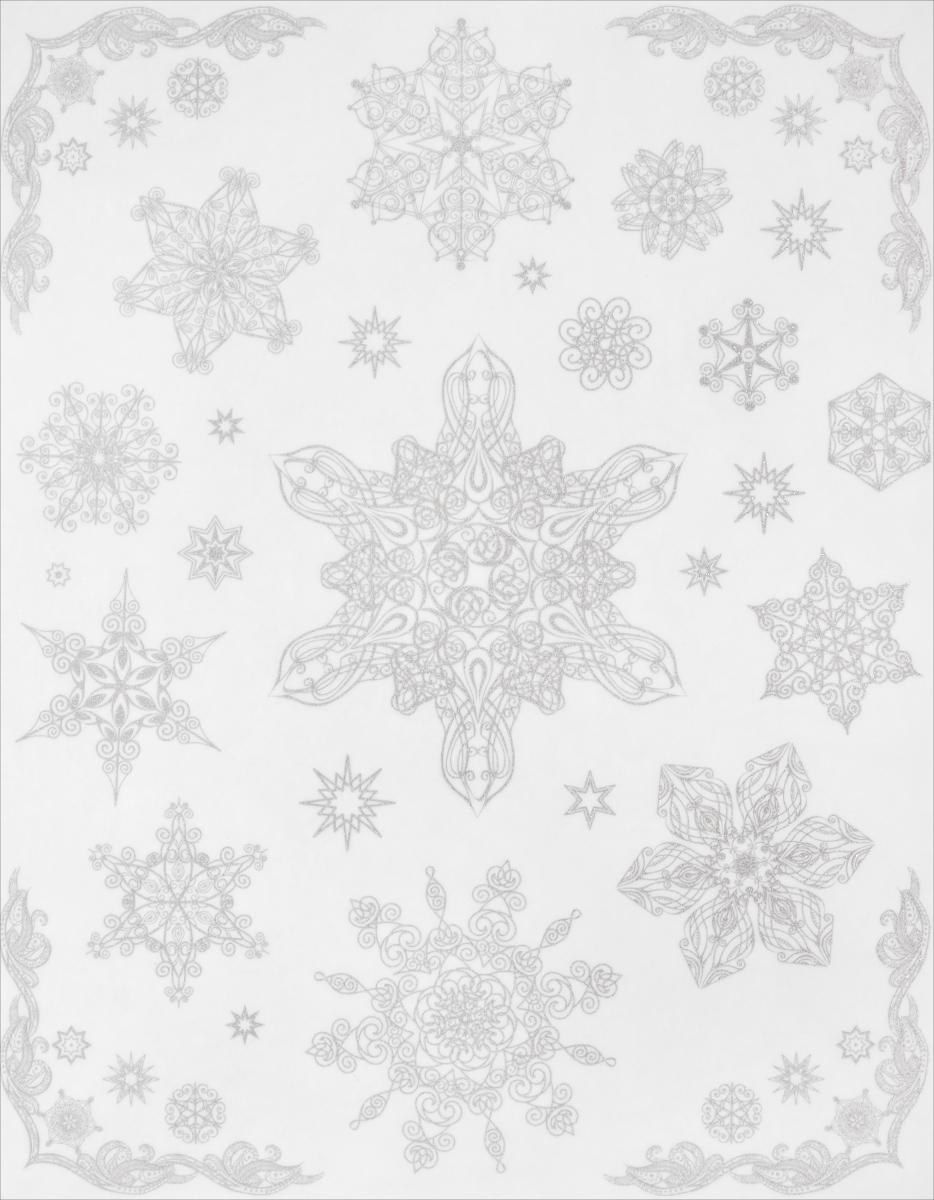 Новогоднее оконное украшение Феникс-Презент Снежинки. 3148931489Новогоднее оконное украшение Феникс-Презент Снежинки поможет украсить дом к предстоящим праздникам. На одном листе расположены наклейки в виде снежинок, декорированные блестками. Наклейки изготовлены из ПВХ. С помощью этих украшений вы сможете оживить интерьер по своему вкусу, наклеить их на окно, на зеркало.Новогодние украшения всегда несут в себе волшебство и красоту праздника. Создайте в своем доме атмосферу тепла, веселья и радости, украшая его всей семьей. Размер листа: 30 см х 38 см. Размер самой большой наклейки: 15,5 см х 11 см. Размер самой маленькой наклейки: 2 см х 2 см.Количество наклеек: 28 шт.