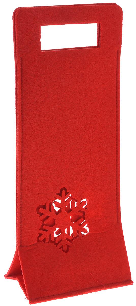 Новогодний мешочек для подарка Феникс-презент, цвет: красный, 16 х 9 х 37,5 см38642Новогодний мешочек для подарка Феникс-презент, выполненный из синтетического фетра, оформлен перфорацией в виде снежинки. Отверстия в верхней части мешочка используется как ручки.Подарок, преподнесенный в оригинальной упаковке, всегда будет самым эффектным и запоминающимся. Окружите близких людей вниманием и заботой, вручив презент в нарядном, праздничном оформлении.