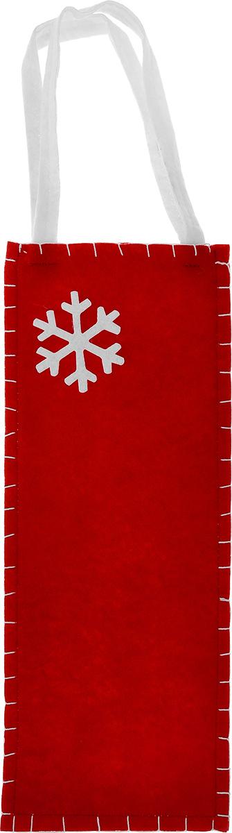 Новогодний мешочек для подарка Феникс-презент Снежинка, цвет: красный, белый, 14 см х 34 см38647Новогодний мешочек для подарка Феникс-презент Снежинка, выполненный из синтетического фетра, оформлен изображением снежинки. Для удобства переноски можно использовать ручки.Подарок, преподнесенный в оригинальной упаковке, всегда будет самым эффектным и запоминающимся. Окружите близких людей вниманием и заботой, вручив презент в нарядном, праздничном оформлении.