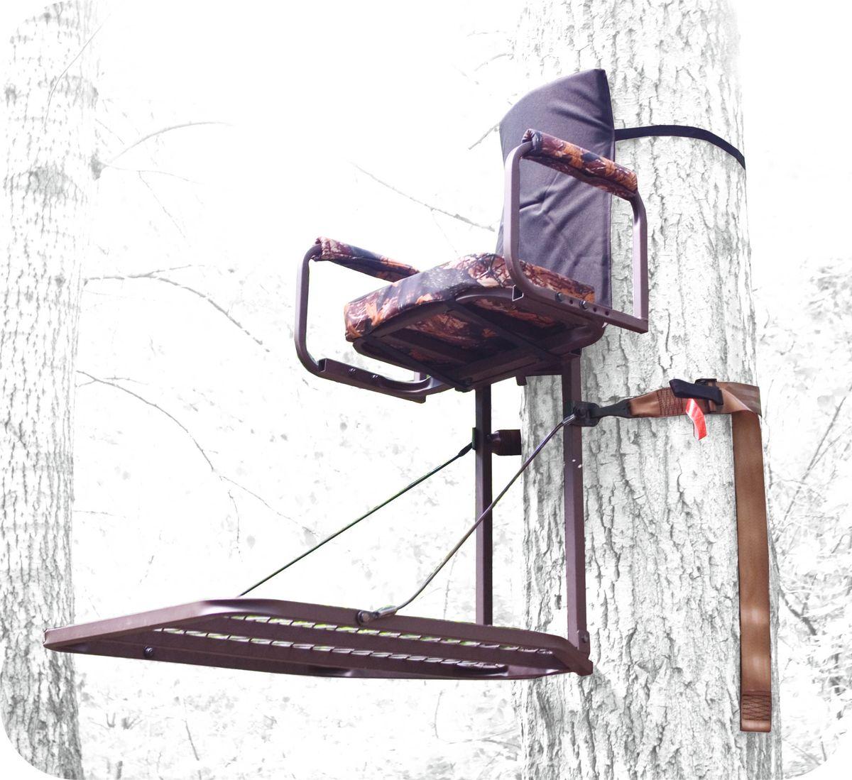 Засидка на дерево Canadian Camper CC-TS501, складная30220101Засидка Canadian Camper CC-TS501 - быстрое и надежное крепление к стволу дерева. Для переноски за спиной складывается в виде рюкзака (необходимые лямки в комплекте). Имеет удобное съемное сиденье и большую решетчатую платформу для ног. Страховочная обвязка в комплекте.Размер платформы: 76,2 х 61 см.Высота сиденья: 56 см.Размер сиденья: 20,3 х 40,6 х 5 см.Нагрузка: 136 кг.
