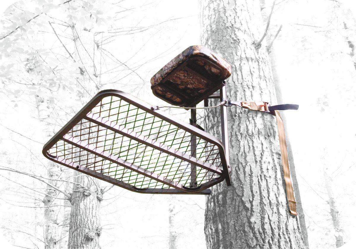 Засидка на дерево Canadian Camper CC-TS502, складная30220103Засидка Canadian Camper CC-TS502 - быстрое и надежное крепление к стволу дерева. Для переноски за спиной складывается в виде рюкзака (необходимые лямки в комплекте). Имеет удобное съемное сиденье с подлокотниками и большую решетчатую платформу для ног. Страховочная обвязка в комплекте.Размер платформы: 76,2 х 61 см.Высота сиденья: 56 см.Размер сиденья: 20,3 х 40,6 х 5 см.Нагрузка: 136 кг.