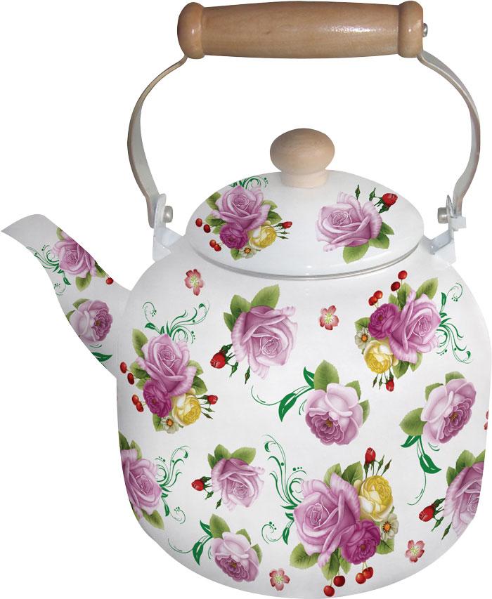 Чайник эмалированный Bohmann, цвет: сиреневый, желтый, белый, 7 л8137BHNEW_2Эмалированный чайник Bohmann с цветочным декором станет отличным дополнением к интерьеру вашей кухни. Чайник имеет не нагревающуюся ручку.Объем 7 л. Подходит для индукционной плиты. Можно мыть в посудомоечной машине.