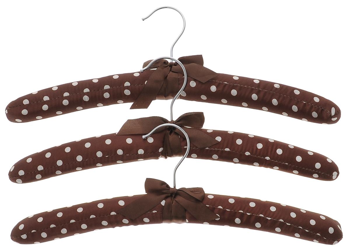 Набор вешалок для одежды El Casa, цвет: коричневый, молочный, 3 шт. 150056150056Набор вешалок El Casa, изготовленный из дерева и сатина, идеально подойдет для деликатной одежды из шерсти и нежных тканей. С ним ваша одежда избежит ненужных растяжек и провисаний. Набор El Casa станет практичным и полезным в вашем гардеробе.Комплектация: 3 шт.Размер вешалки: 11 см х 38 см х 3,5 см.