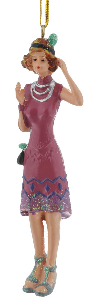 Новогоднее подвесное украшение Феникс-Презент, 10 х 3 см38332Новогоднее украшение Феникс-Презент, изготовленное из высококачественного полирезина, прекрасно подойдет для праздничного декора дома и новогодней ели. Изделие выполнено в виде дамы в вечернем платье и украшено блестками. С помощью специальной текстильной петельки его можно повесить в любом понравившемся вам месте. Но, конечно, удачнее всего такая игрушка будет смотреться на праздничной елке. Елочная игрушка - символ Нового года. Она несет в себе волшебство и красоту праздника. Создайте в своем доме атмосферу веселья и радости, украшая новогоднюю елку нарядными игрушками, которые будут из года в год накапливать теплоту воспоминаний.