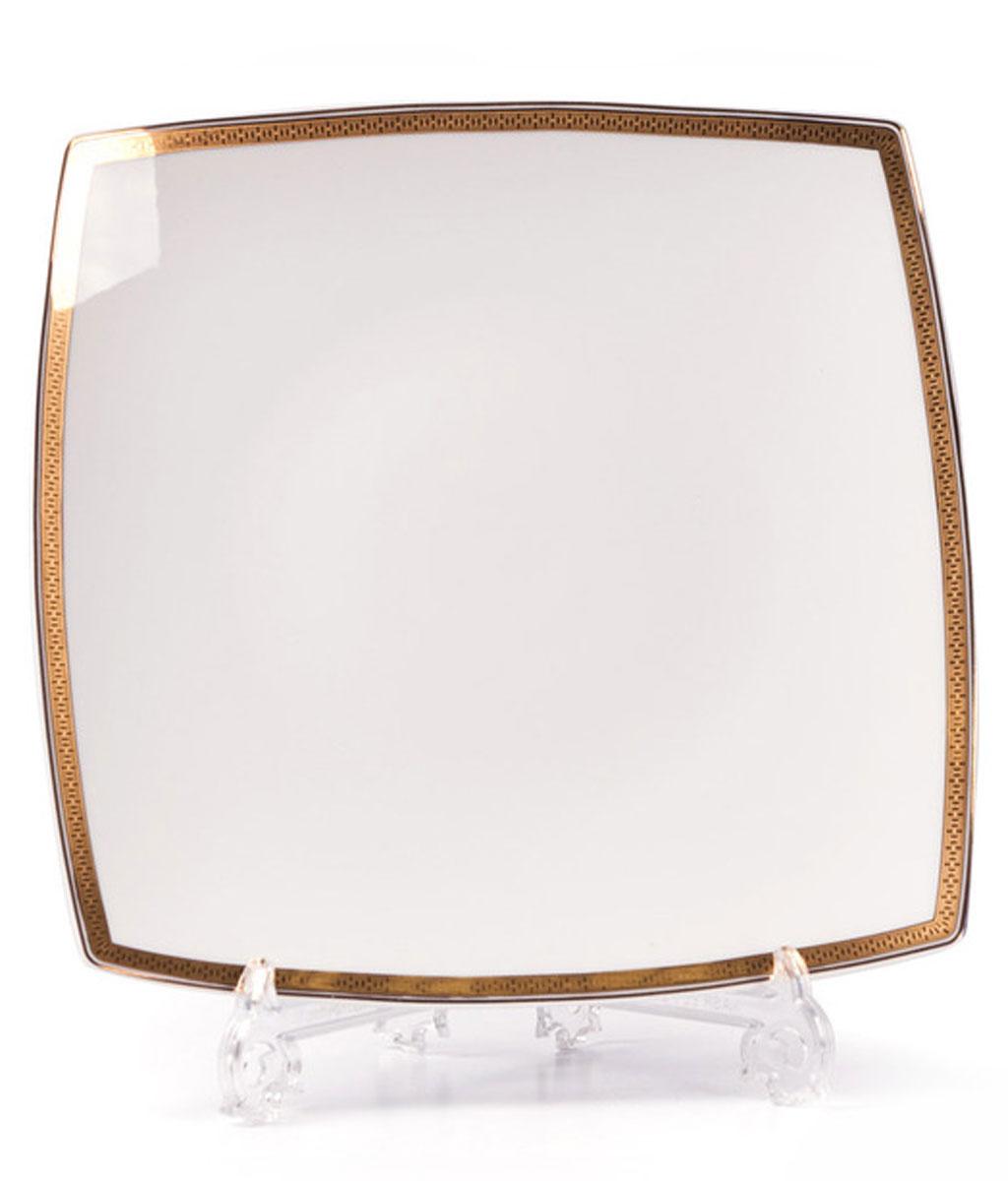 Kyoto 1555 набор тарелок для десерта, 6 шт/уп, цвет: белый с золотом719101 1555В наборе тарелка 22 см 6 штук Материал: фарфор: цвет: белый с золотомСерия: KYOTO