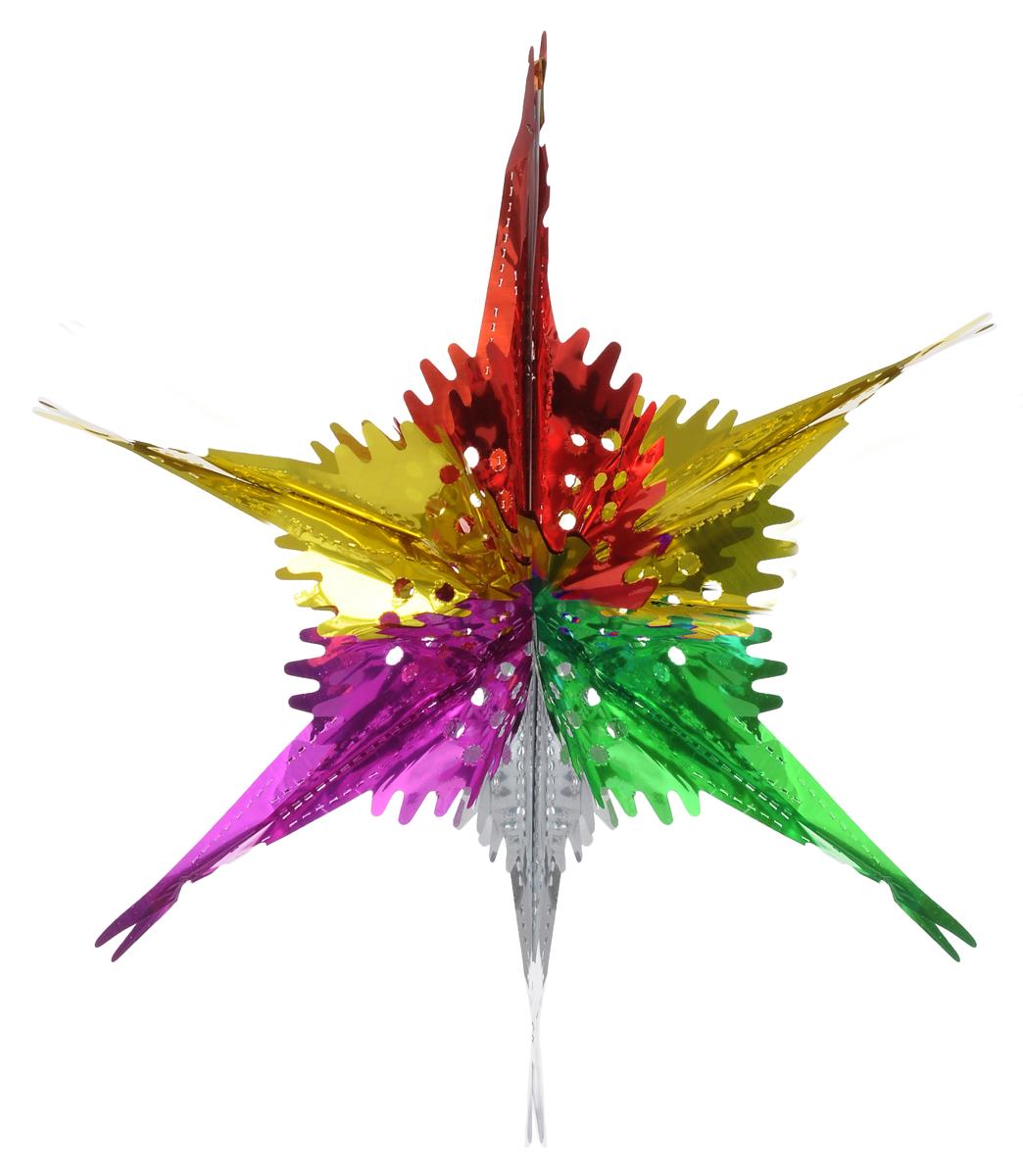 Новогоднее подвесное украшение Феникс-Презент Звезда ажурная, цвет: зеленый, красный, фиолетовый30967Новогоднее украшение Феникс-Презент Звезда ажурная отлично подойдет для декорации вашего дома иновогодней ели. Украшение выполнено из ПЭТ (полиэтилентерефталата) в форме многогранной разноцветнойзвезды. С помощью специальной петельки звезду можно повеситьв любом понравившемся вам месте. Украшение легко складывается ираскладывается благодаря металлическим кольцам.Новогодние украшения несут в себе волшебство и красоту праздника. Онипомогут вам украсить дом к предстоящим праздникам и оживить интерьер повашему вкусу. Создайте в доме атмосферу тепла, веселья и радости, украшая еговсей семьей.