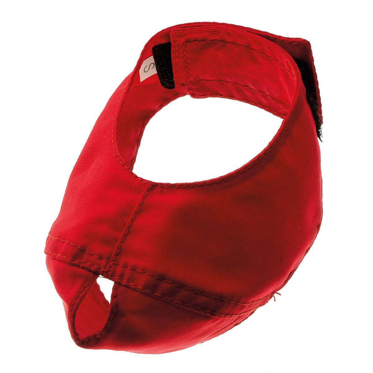 Намордник для кошки V.I.Pet, цвет: красный. Размер LPMK-3LИспользуется профессионалами по уходу за животными. Не позволяет кусаться. Кошки не могут самостоятельно снять лапами. Сделан из прочной ткани окфорд. Можно стирать в стиральной машине. Материал: нейлон, полиэстер.