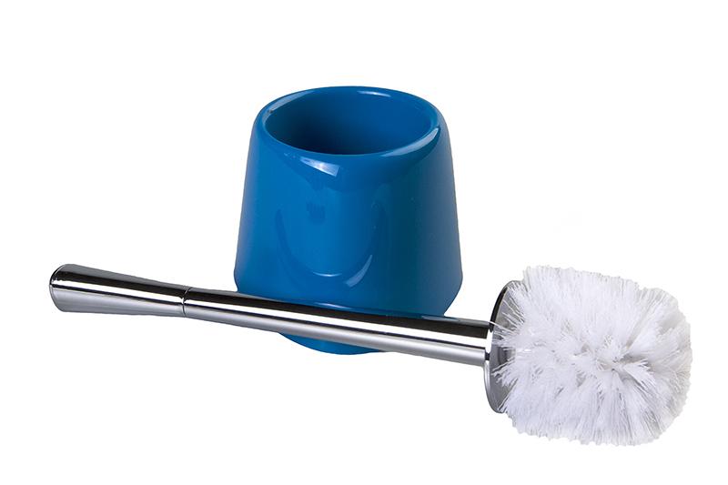 """Ершик для унитаза  Duschy """"Wiki"""" выполнен из пластика с  жестким ворсом. Он хранится в специальной подставке. Ерш  отлично чистит поверхность, а грязь с него легко смывается  водой. Стильный дизайн изделия притягивает взгляд и прекрасно  подойдет к интерьеру туалетной комнаты. Длина ершика (с ручкой): 33 см.  Размер рабочей части ершика: 8,3 х 8,3 х 8 см. Размер подставки: 12,5 х 12,5 х 10 см."""