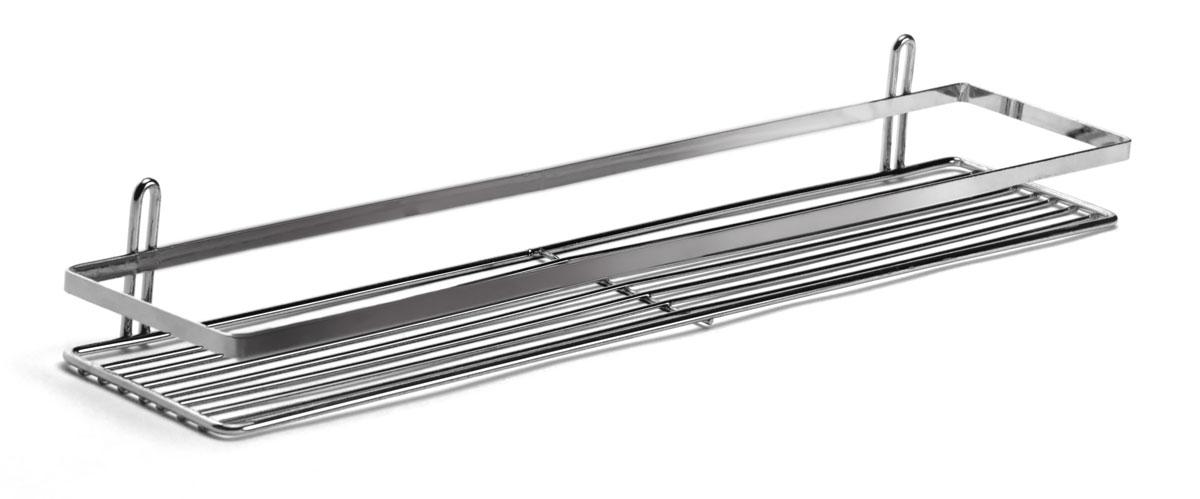 """Подвесная полка Vanstore """"Modern"""" выполненная из стали и покрытая специальным, влагозащитным полимерным покрытием, сэкономит место в ванной комнате. Полка подвешивается с помощью 2-х саморезов (входят в комплект).Она пригодится для хранения различных принадлежностей, которые всегда будут под рукой.Благодаря компактным размерам полка впишется в интерьер вашего дома и позволит вам удобно и практично хранить предметы домашнего обихода.  Размер: 58 х 12 х 6 см."""