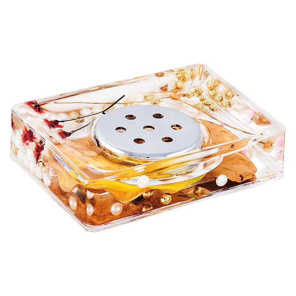 Мыльница Gold Leaf887-88Оригинальная мыльница Gold Leaf, изготовленная из пластика, отлично подойдет для вашей ванной комнаты. Внутри мыльницы прозрачный гелевый наполнитель с золотистыми и белыми бусинами, веточками и листочками.Мыльница создаст особую атмосферу уюта и максимального комфорта в ванной. Характеристики: Материал: пластик, акрил, гелевый наполнитель. Цвет: золотистый, черный, белый. Размер мыльницы: 10,5 см х 7 см х 3,5 см. Производитель: Швеция. Изготовитель: Китай. Размер упаковки: 11,5 см х 8 см х 4,5 см. Артикул: 887-88.