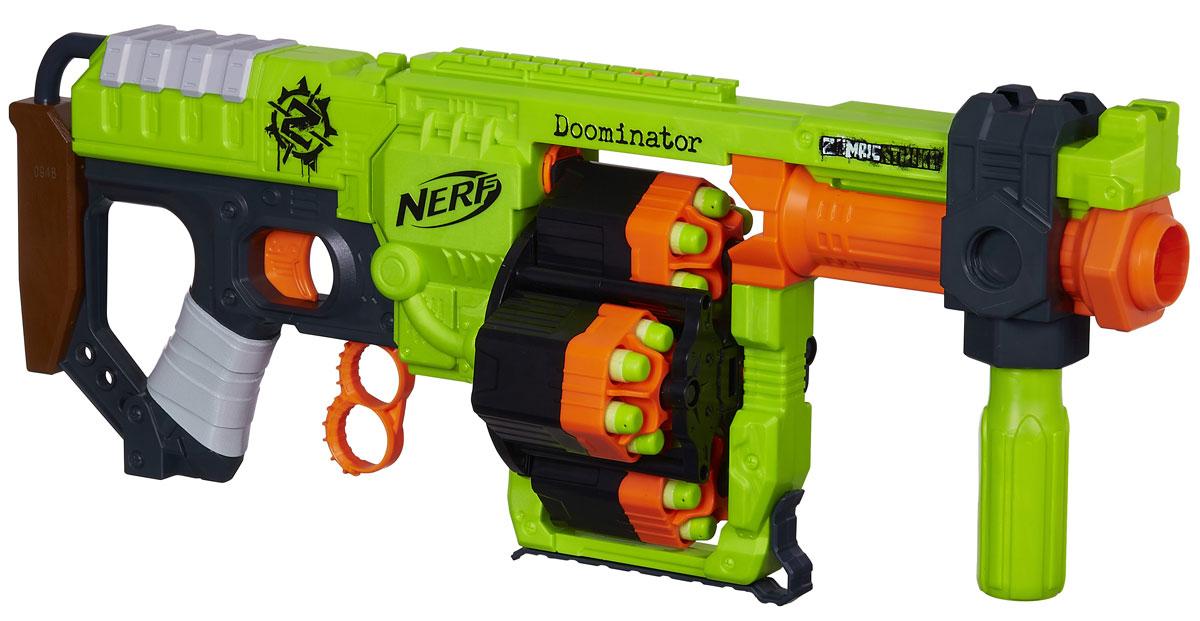 Nerf Бластер Zombie Strike Doominator как нарисовать nerf
