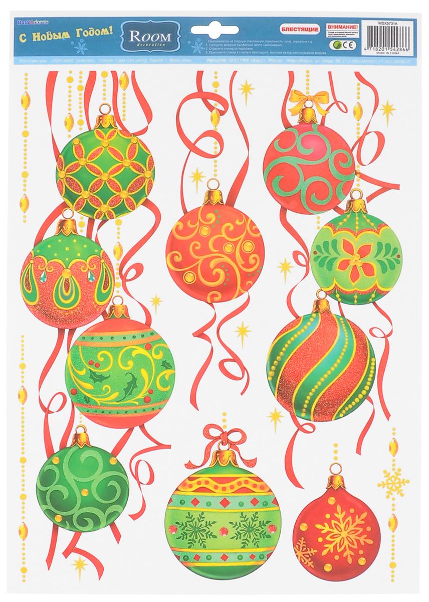 Новогоднее оконное украшение Room Decoration