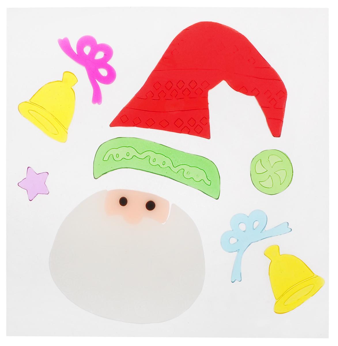 Новогоднее оконное украшение EuroHouse Аппликация. Санта, 9 штЕХ 9122Новогоднее оконное украшение EuroHouse Аппликация. Санта поможет украсить дом к предстоящим праздникам. Наклейки изготовлены из термопластика и выполнены в виде колокольчиков, колпака и лица Санта-Клауса, звезды.С помощью этих украшений вы сможете оживить интерьер по своему вкусу, наклеить их на окно или на зеркало.Новогодние украшения всегда несут в себе волшебство и красоту праздника. Создайте в своем доме атмосферу тепла, веселья и радости, украшая его всей семьей. Размер самой большой наклейки: 9,2 см х 7,5 см. Размер самой маленькой наклейки: 2 см х 2 см.
