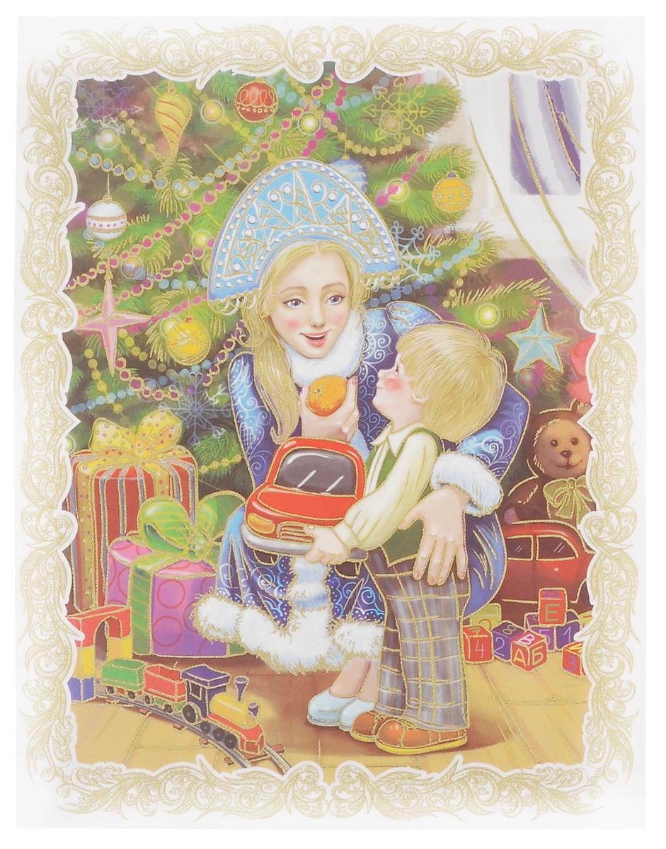 Новогоднее оконное украшение Феникс-презент Снегурочка с малышом, 30 см х 38 см38629Новогоднее оконное украшение Феникс-презент Снегурочка с малышом поможет украсить дом к предстоящим праздникам. Яркое изображение, украшенное блестками, нанесено на прозрачную клейкую пленку. С помощью такого украшения вы сможете оживить интерьер по вашему вкусу: наклеить его на окно, на зеркала и даже на двери.Новогодние украшения всегда несут в себе волшебство и красоту праздника. Создайте в своем доме атмосферу тепла, веселья и радости, украшая его всей семьей.