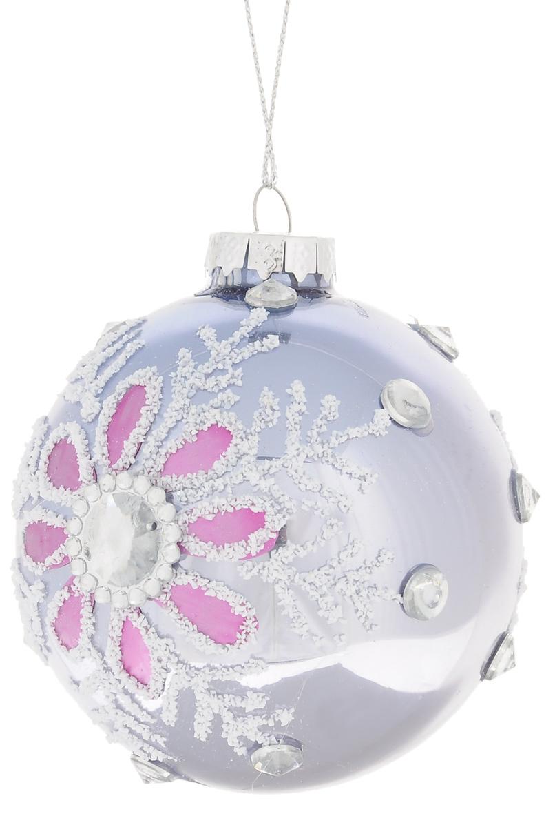 Новогоднее подвесное украшение Феникс-Презент Снежинка, цвет: серебрисый, сиреневый, диаметр 8 см38396Новогоднее украшение Феникс-Презент Снежинка выполнено из стекла. Внешние стенки декорированы объемным изображением снежинок. С помощью текстильной петельки украшение можно повесить в любом понравившемся вам месте. Но, конечно, удачнее всего такая игрушка будет смотреться на праздничной елке. Новогодние украшения приносят в дом волшебство и ощущение праздника. Создайте в своем доме атмосферу веселья и радости, украшая всей семьей новогоднюю елку нарядными игрушками, которые будут из года в год накапливать теплоту воспоминаний. Коллекция декоративных украшений из серии Magic Time принесет в ваш дом ни с чем не сравнимое ощущение волшебства!