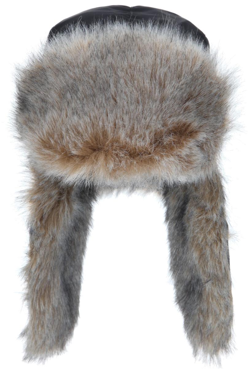 Шапка-ушанка Vostok Евро, с ветрозащитной маской, цвет: черный. волк. Размер 58/60волкЗимняя шапка с искусственным мехом и ветрозащитной маской. Очень удобная ипрактичная модель. Верх шапки выполнен из водонепроницаемого материала.Имитация меха волка. Утеплена радотексом и флисом для лучшейтеплоизоляции. Маска изготовлена из флиса и предназначена для защиты нижнейчасти лица от холода и ветра. Утяжка на затылке со стоппером. Уши подподбородком и наверху фиксируются с помощью липучки. Конструкция шапкипозволяет носить ее в двух вариантах. Шапка легкая, приятная на ощупь иотлично защищает от зимнего холода.