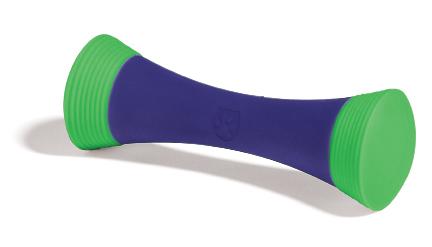 Игрушка для собак SafeMade Штанга, цвет: фиолетовый, зеленый, 15 х 5 см игрушка головоломка для собак i p t s smarty 30 см х 19 см х 2 5 см