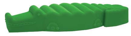 Игрушка для собак SafeMade Аллигатор, цвет: зеленый, 15 х 5 см