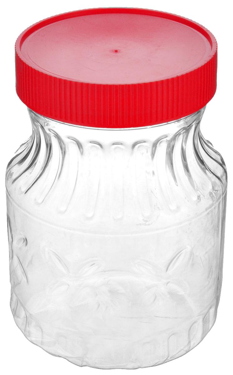 Банка Альтернатива Медовая, цвет: красный, прозрачный, 700 млM966_красныйБанка Альтернатива Медовая изготовлена из пластика. Изделие абсолютно безопасно для контакта с пищевыми продуктами. Банка закрывается крышкой, которая защищает содержимое от влаги и сохраняет продукты ароматными и свежими. В такой банке можно хранить мед, варенье, различные сыпучие продукты. Она практична и функциональна, пригодится в любом хозяйстве.Диаметр банки (по верхнему краю): 8 см.Высота банки (с учетом крышки): 14 см.