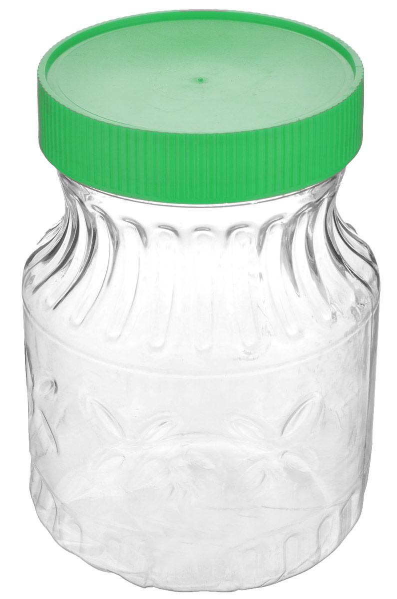 Банка Альтернатива Медовая, цвет: зеленый, прозрачный, 700 млM966Банка Альтернатива Медовая изготовлена из пластика. Изделие абсолютно безопасно для контакта с пищевыми продуктами. Банка закрывается крышкой, которая защищает содержимое от влаги и сохраняет продукты ароматными и свежими. В такой банке можно хранить мед, варенье, различные сыпучие продукты. Она практична и функциональна, пригодится в любом хозяйстве.Диаметр банки (по верхнему краю): 8 см.Высота банки (с учетом крышки): 14 см.Альтернатива Медовая изготовлена из материала ПЭТ (полиэтилентерефталат) и пластика. Изделие абсолютно безопасно для контакта с пищевыми продуктами. Внешние стенки украшены рельефом. Банка закрывается пластиковой крышкой, которая защищает содержимое от влаги и сохраняет продукты ароматными и свежими. В такой банке можно хранить мед, варенье, различные сыпучие продукты. Она практична и функциональна, пригодится в любом хозяйстве.