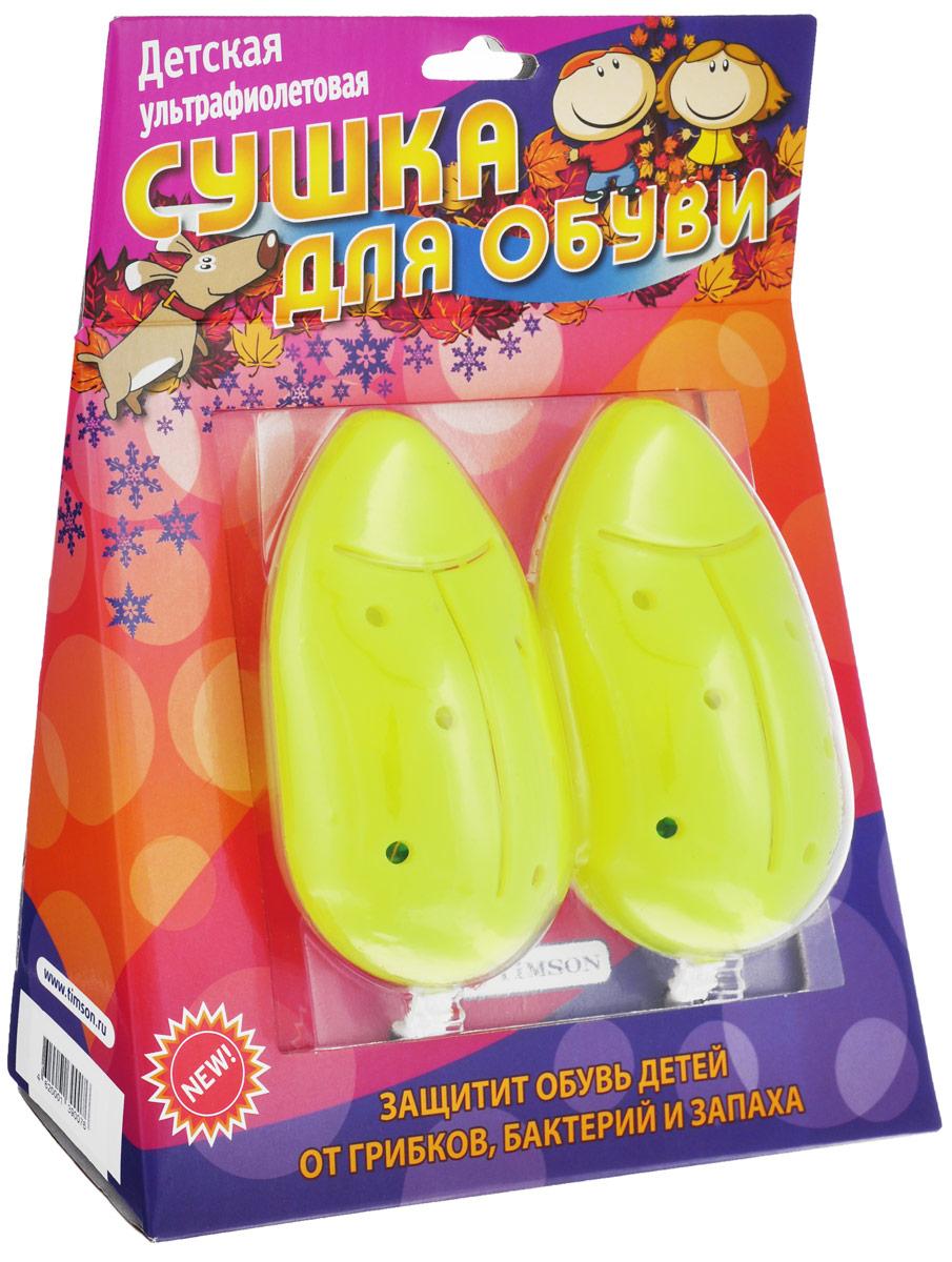 Детская сушка для обуви Timson, ультрафиолетовая, цвет: салатовый2420_салатовыйДетская ультрафиолетовая сушка для обуви Timson, выполненная из пластика, является уникальным высокоэффективным изобретением. Данный прибор позволяет уничтожить грибки, бактерии и неприятный запах внутри обуви. Изделие обладает ярко выраженным дезодорирующим эффектом. Также благодаря такой сушке не портится внешний вид обуви и продлевается срок ношения. Напряжение: 220В.Потребляемая мощность: 5-7 Вт.Температура воздуха при сушке: 60-70°С.Размер одного элемента: 13 см х 6,5 см х 3,5 см.