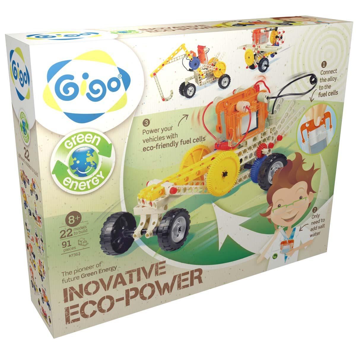 Gigo Конструктор Eco Power 22 в 1 конструктор развивающий gigo 7329 сила упругости