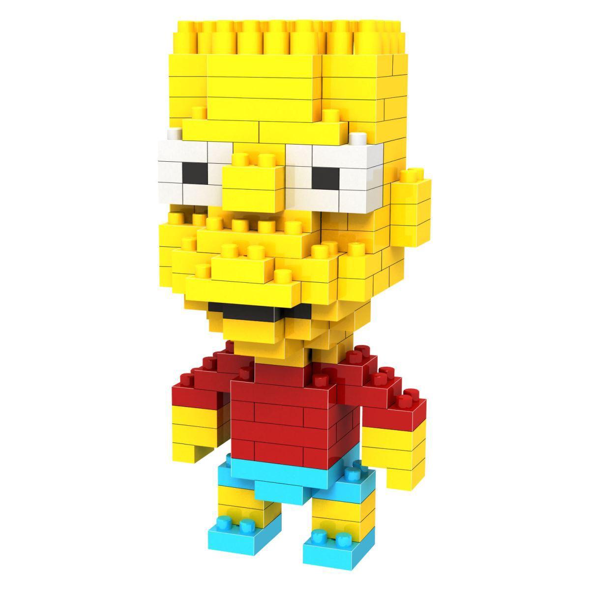 Loz Мини-конструктор Diamond Block Барт - реальный пацан игрушки симпсоны
